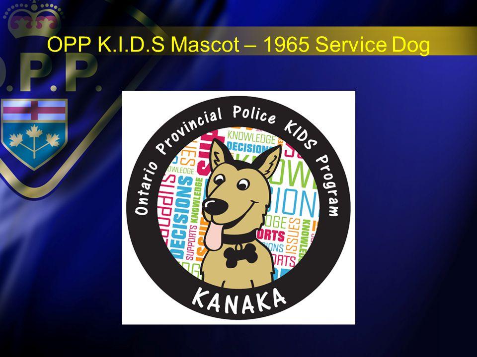 OPP K.I.D.S Mascot – 1965 Service Dog