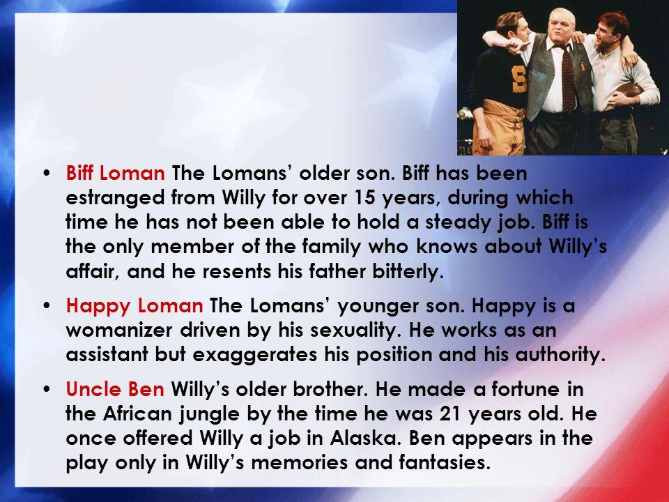Biff Loman The Lomans' older son.