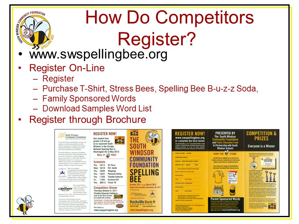 How Do Competitors Register.