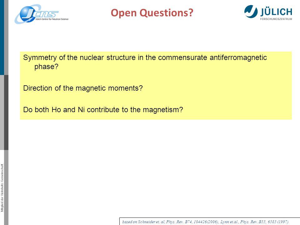 Mitglied der Helmholtz-Gemeinschaft Open Questions.
