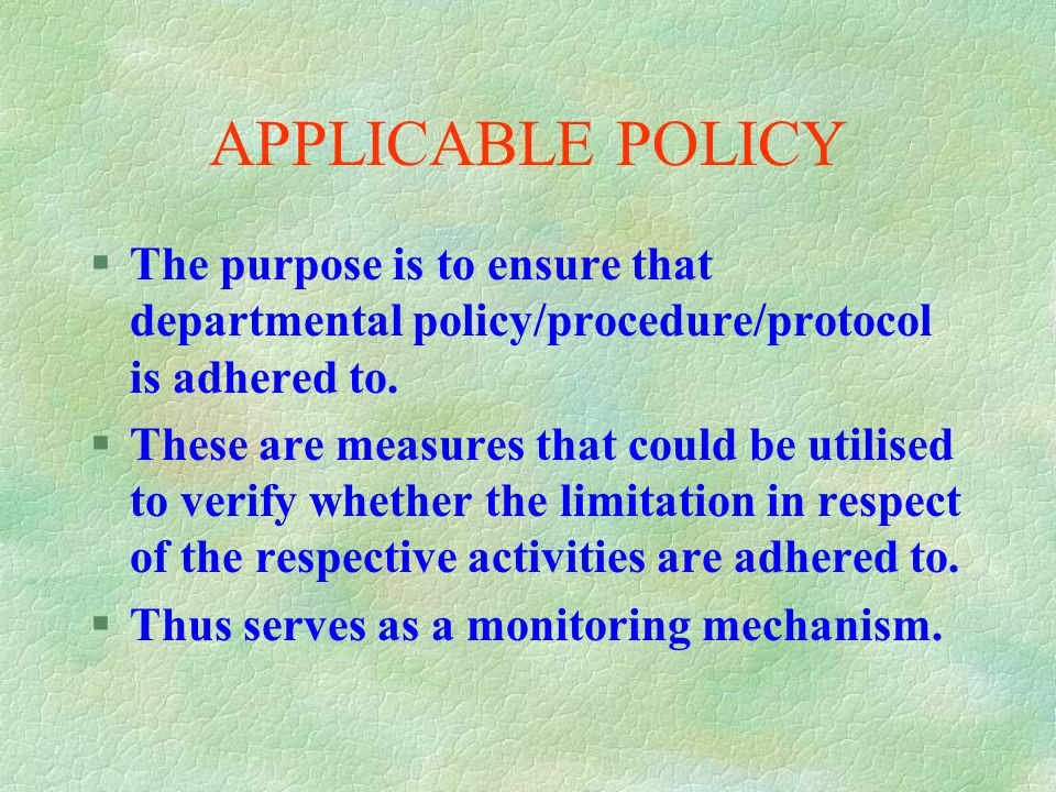 NOTIFICATION PERIOD §Refers to the agreed upon period for request or notice. §This varies in respect of the nature of request. §Could be attributed to