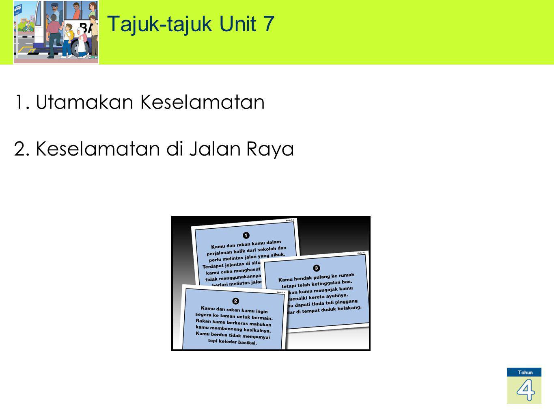 1. Utamakan Keselamatan 2. Keselamatan di Jalan Raya Tajuk-tajuk Unit 7