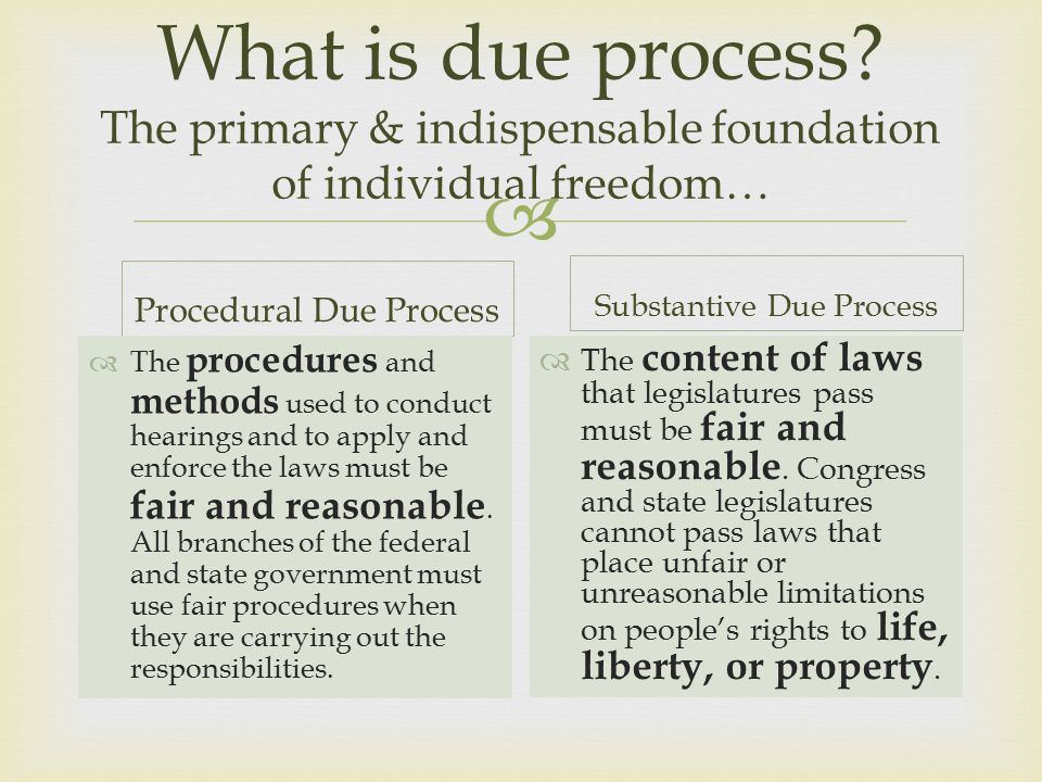  What is due process.