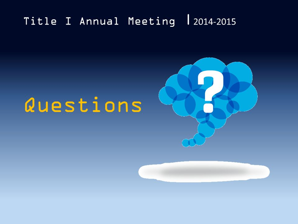 Questions Title I Annual Meeting | 2014-2015