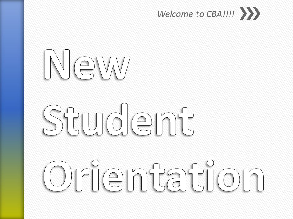 Welcome to CBA!!!!