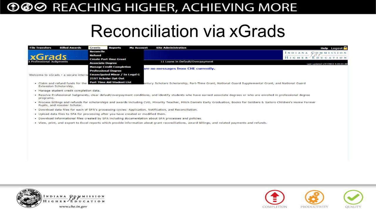 Reconciliation via xGrads