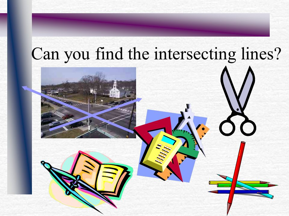 Can you find the intersecting lines?