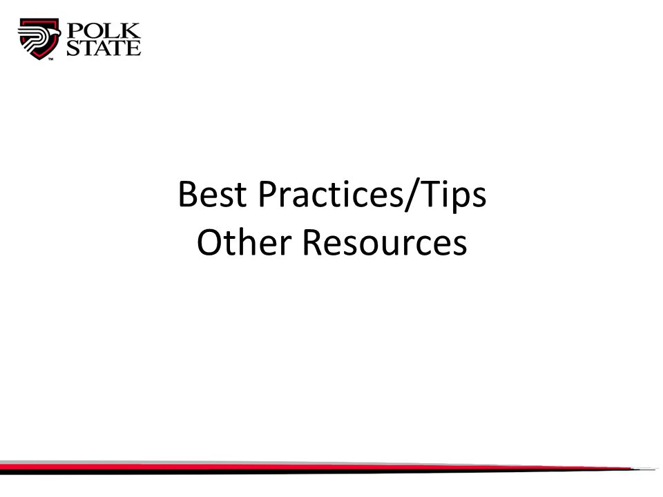 Best Practices/Tips Other Resources