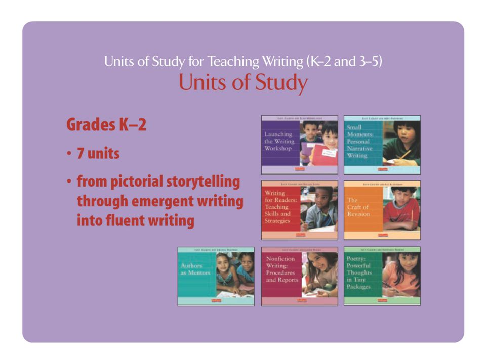 Data and Feedback Schools who do quarterly writing prompts have reported great improvement in quality and quantity of student writing compared to last year in classes where teachers are implementing the Units of Study.