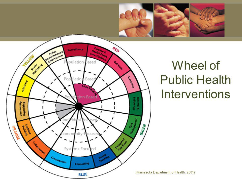 Wheel of Public Health Interventions (Minnesota Department of Health, 2001)