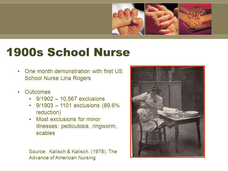 1920 School Nurse—Lice Check!