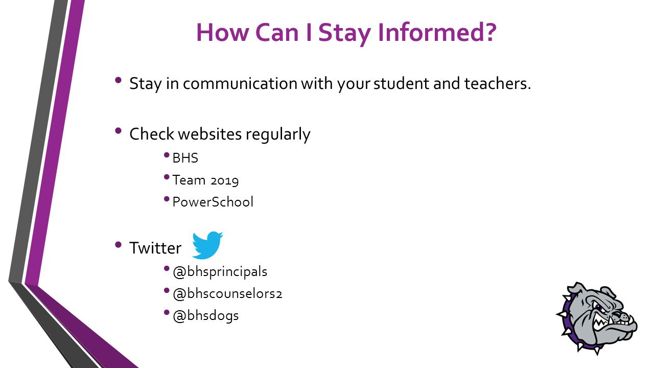 How Can I Stay Informed. Stay in communication with your student and teachers.