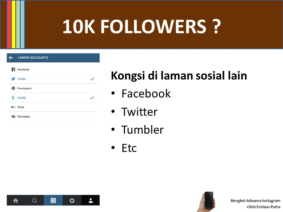 #INSTAMARKETING ? Bengkel Advance Instagram Oleh Firdaus Putra Promosi minimum 80/20