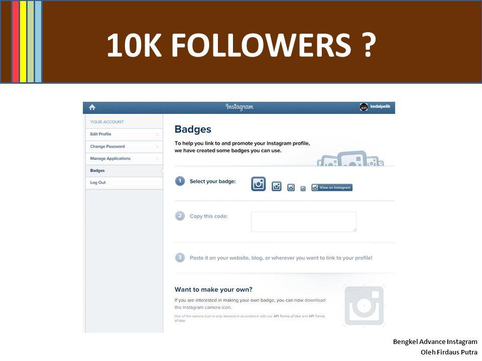 #INSTAMARKETING ? Bengkel Advance Instagram Oleh Firdaus Putra 20% promo
