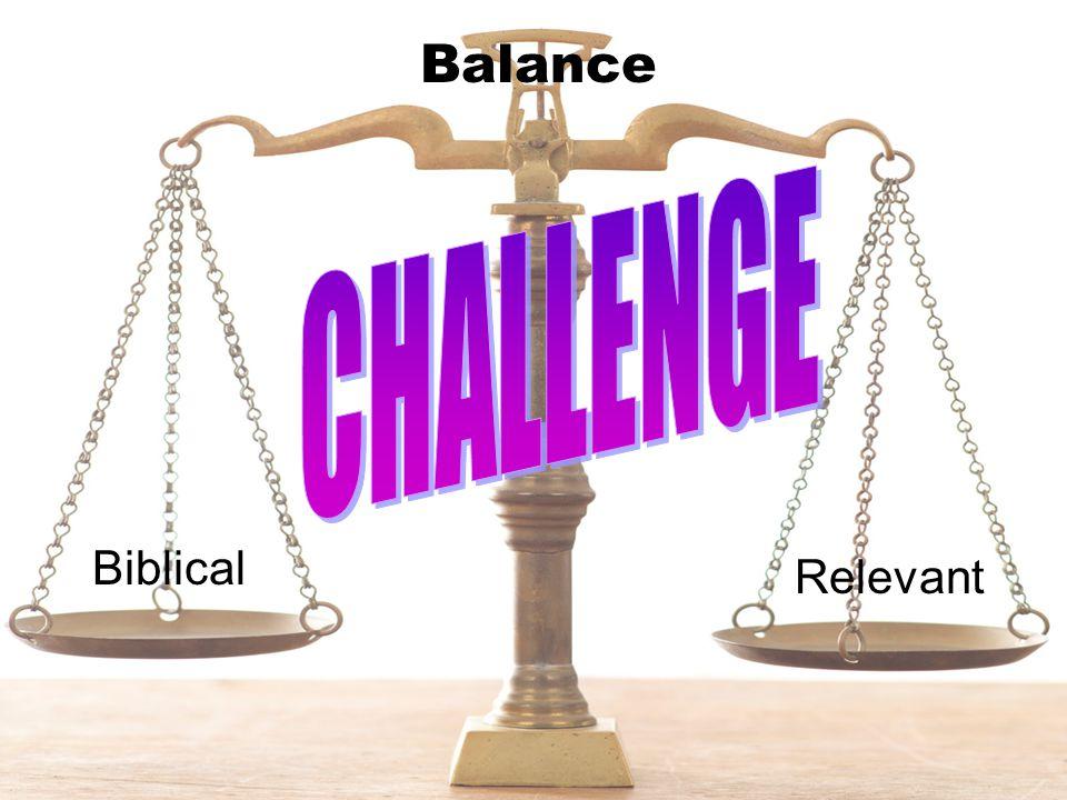 Balance Biblical Relevant