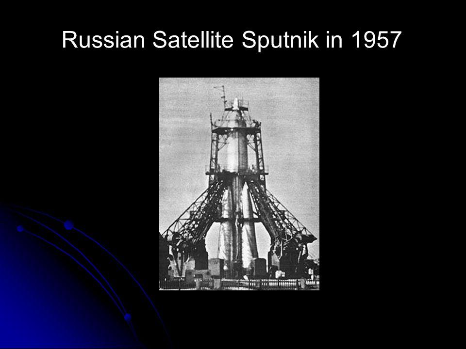 Russian Satellite Sputnik in 1957
