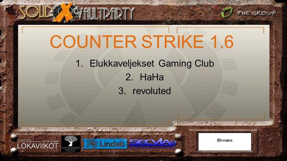1.Elukkaveljekset Gaming Club 2.HaHa 3.revoluted