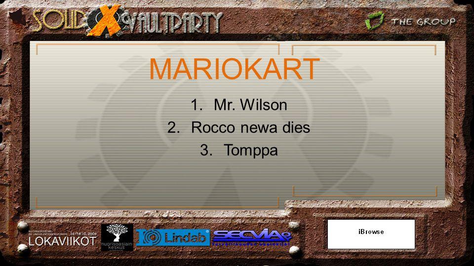 1.Mr. Wilson 2.Rocco newa dies 3.Tomppa
