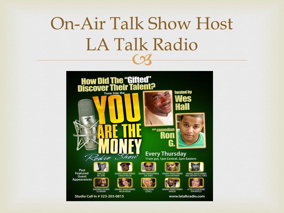  On-Air Talk Show Host LA Talk Radio