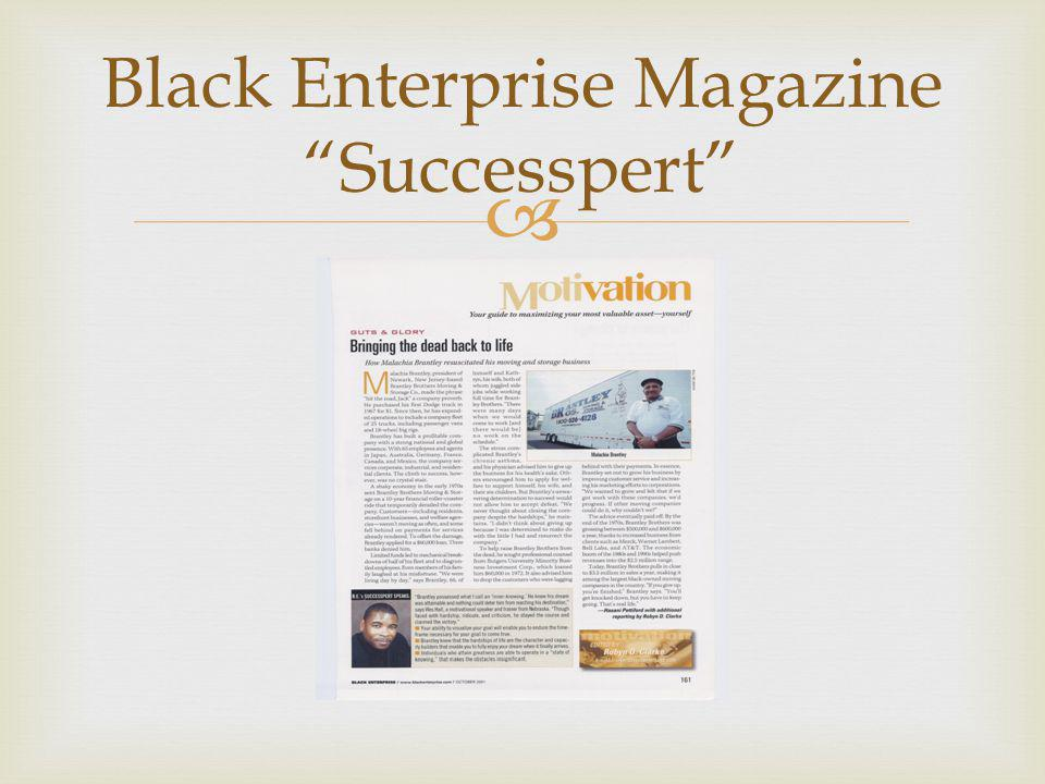  Black Enterprise Magazine Successpert