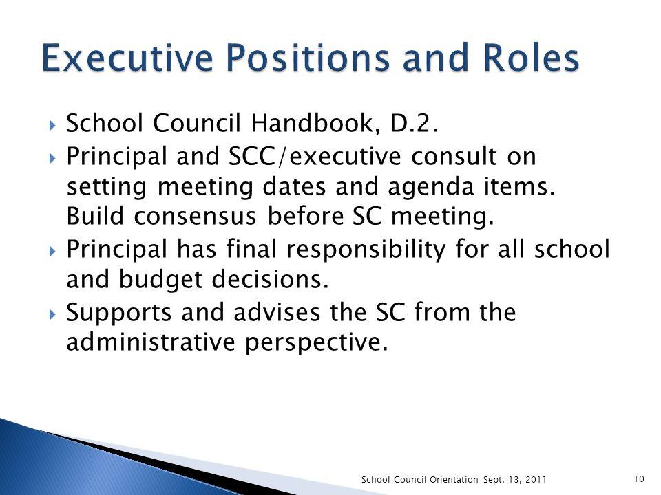  School Council Handbook, D.2.