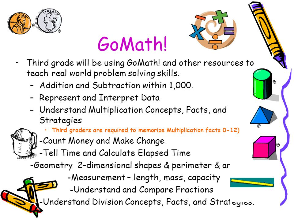 GoMath. Third grade will be using GoMath.