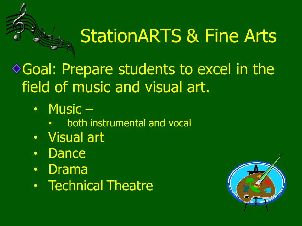 StationARTS & Fine Arts Goal: Prepare students to excel in the field of music and visual art.