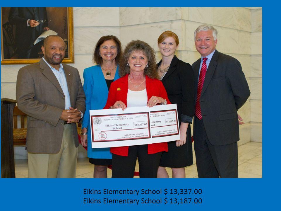 Elkins Elementary School $ 13,337.00 Elkins Elementary School $ 13,187.00