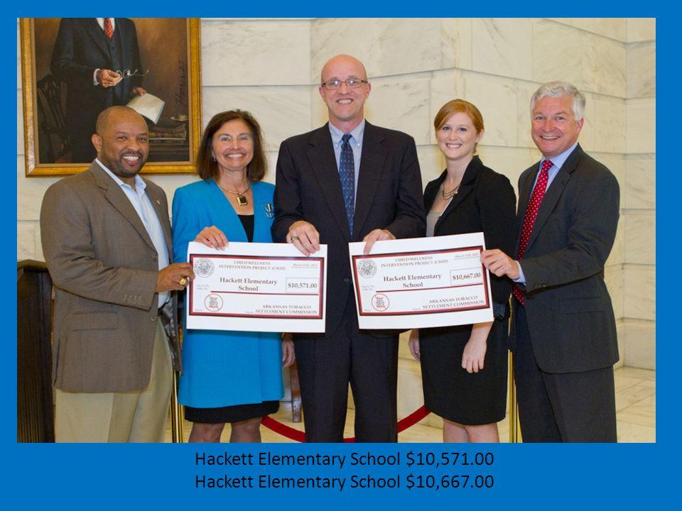 Hackett Elementary School $10,571.00 Hackett Elementary School $10,667.00