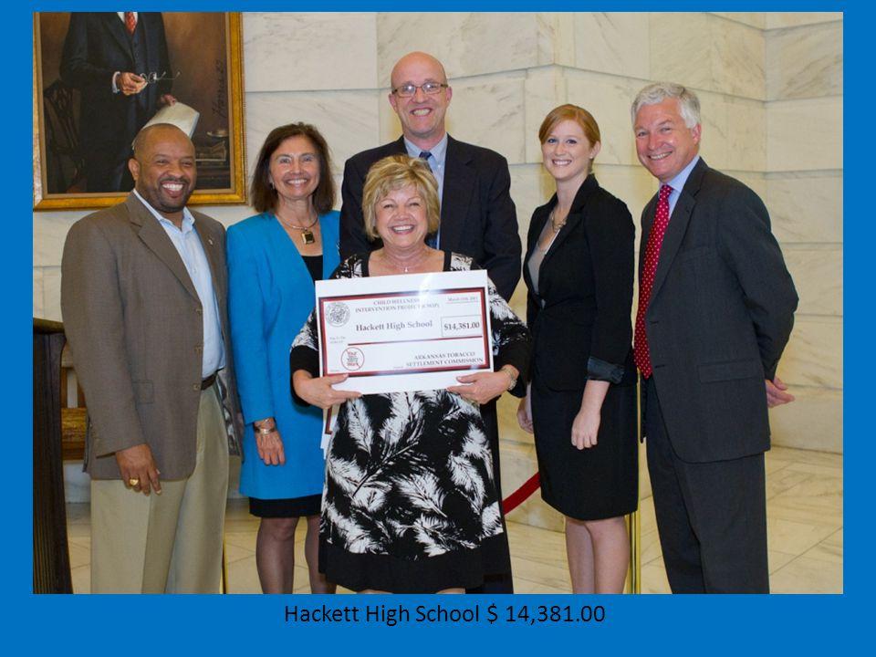 Hackett High School $ 14,381.00