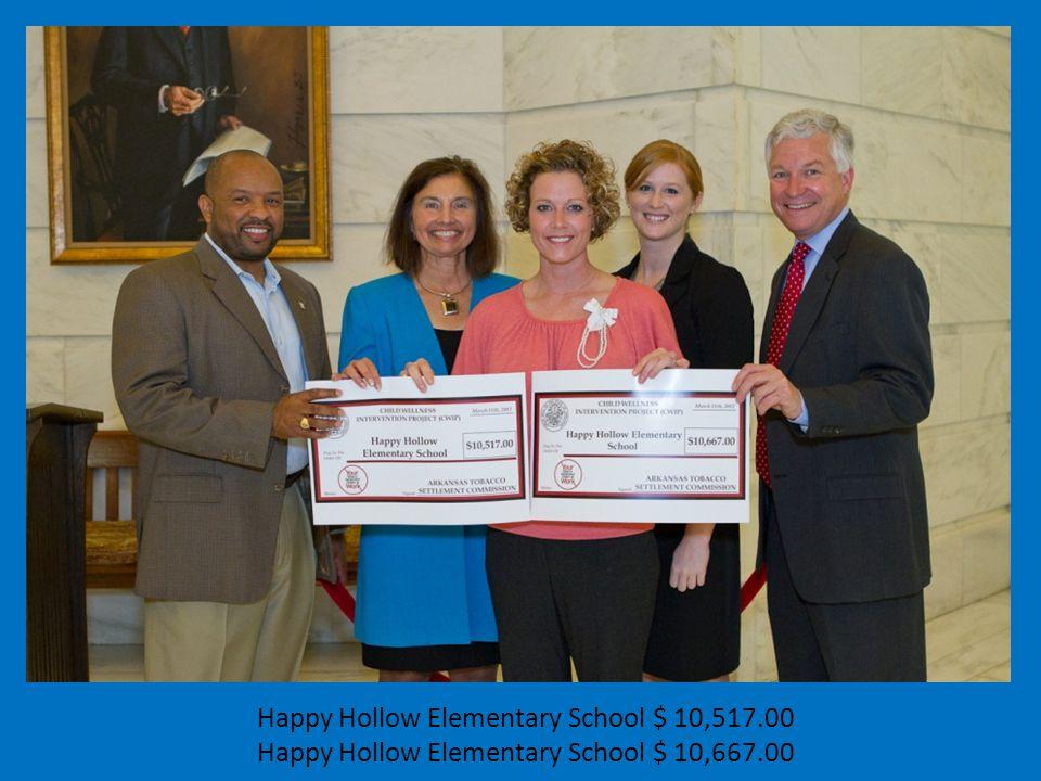 Happy Hollow Elementary School $ 10,517.00 Happy Hollow Elementary School $ 10,667.00