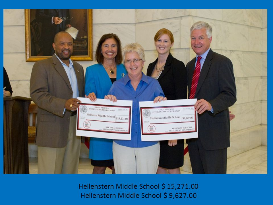 Hellenstern Middle School $ 15,271.00 Hellenstern Middle School $ 9,627.00
