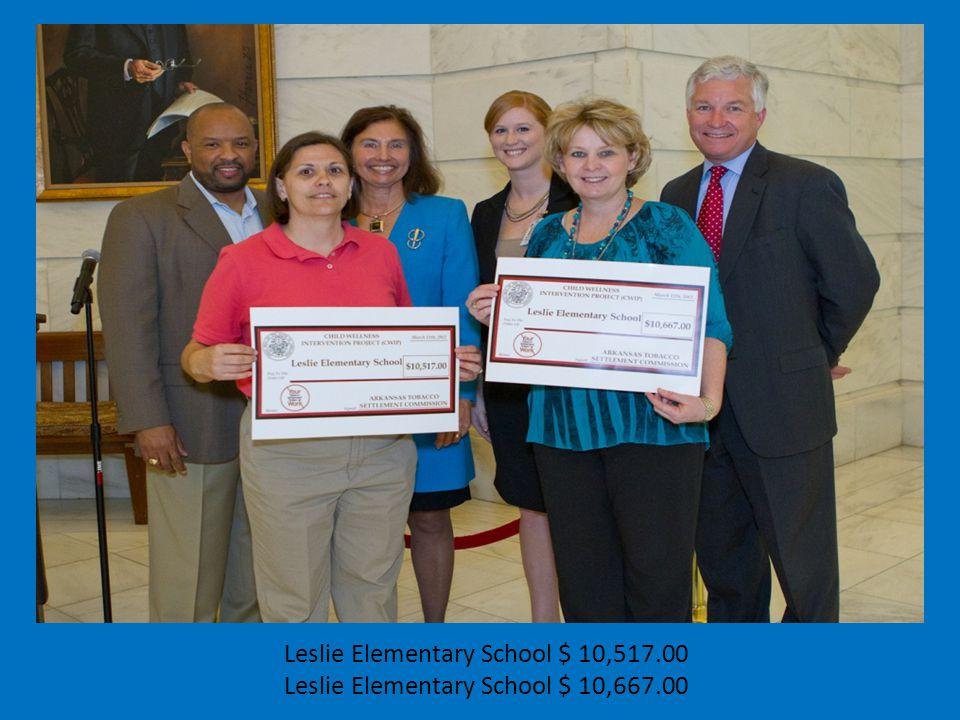 Leslie Elementary School $ 10,517.00 Leslie Elementary School $ 10,667.00