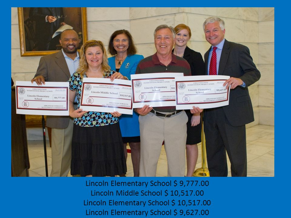 Lincoln Elementary School $ 9,777.00 Lincoln Middle School $ 10,517.00 Lincoln Elementary School $ 10,517.00 Lincoln Elementary School $ 9,627.00