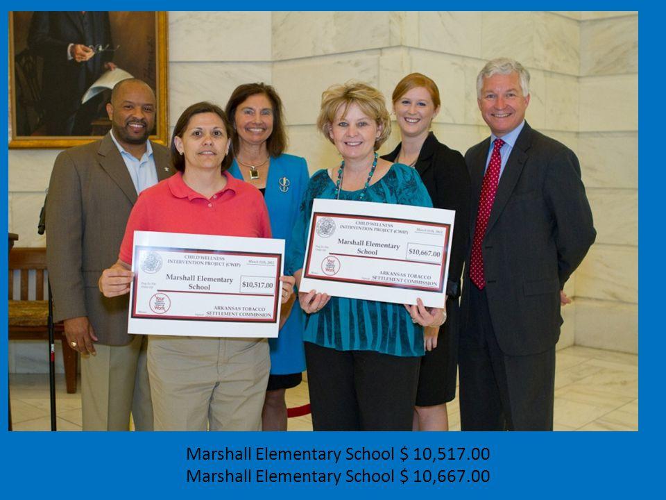 Marshall Elementary School $ 10,517.00 Marshall Elementary School $ 10,667.00
