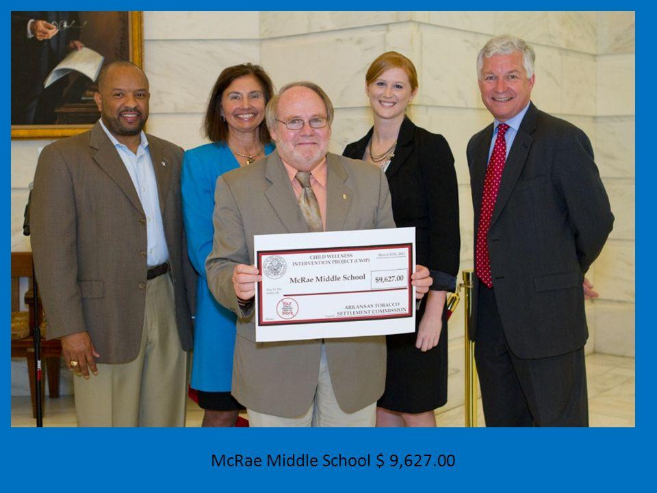 McRae Middle School $ 9,627.00