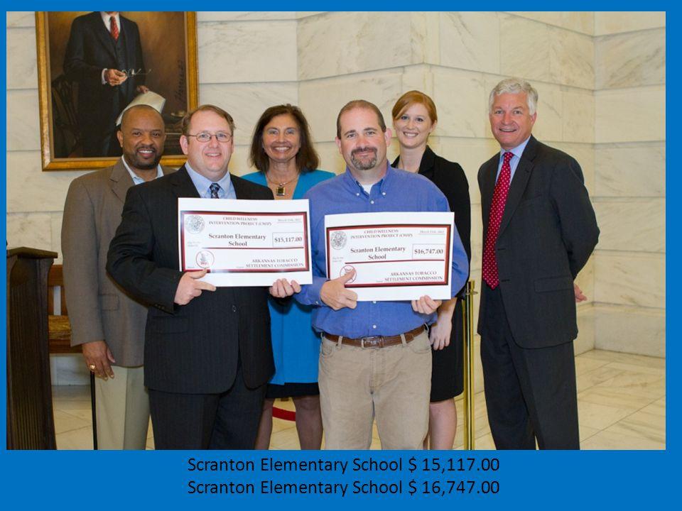 Scranton Elementary School $ 15,117.00 Scranton Elementary School $ 16,747.00