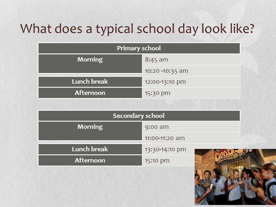 What does a typical school day look like.