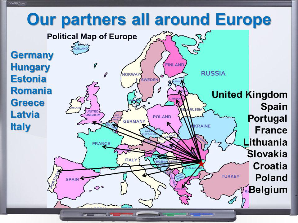 Our partners all around Europe GermanyHungaryEstoniaRomaniaGreeceLatviaItaly United Kingdom Spain Portugal France Lithuania Slovakia Croatia Poland Belgium