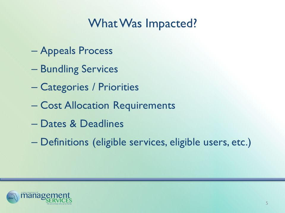 What Was Impacted.