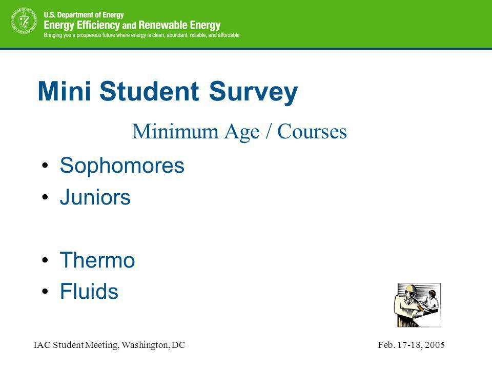 IAC Student Meeting, Washington, DCFeb.