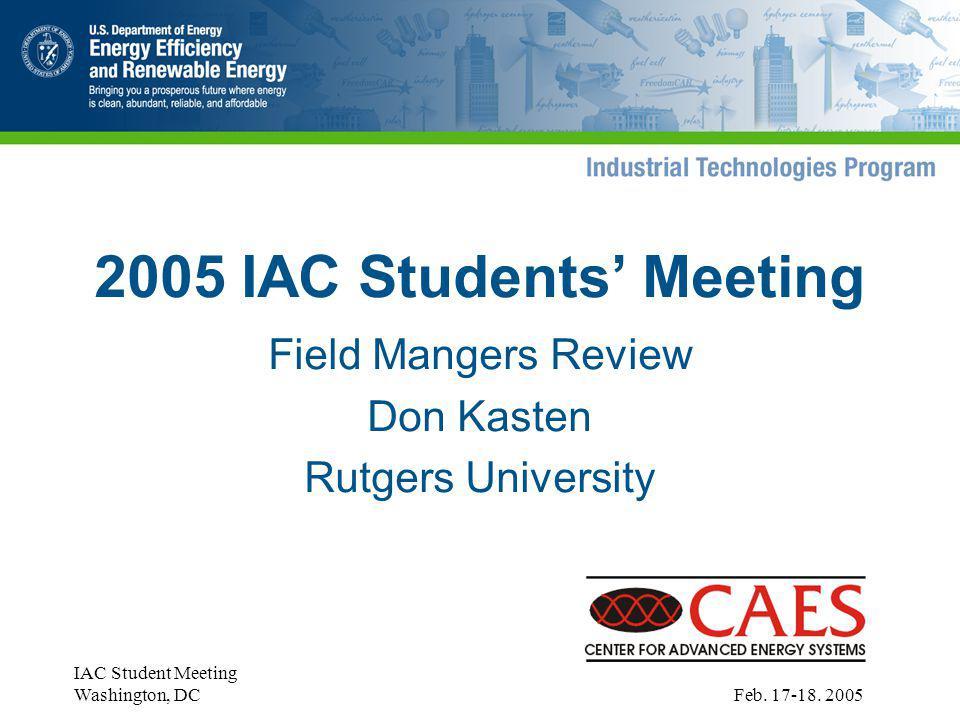 IAC Student Meeting Washington, DC Feb. 17-18.