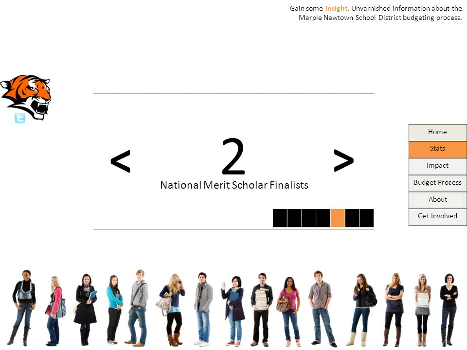 Home Stats Impact Budget Process About Get Involved > < 2 National Merit Scholar Finalists Gain some Insight.