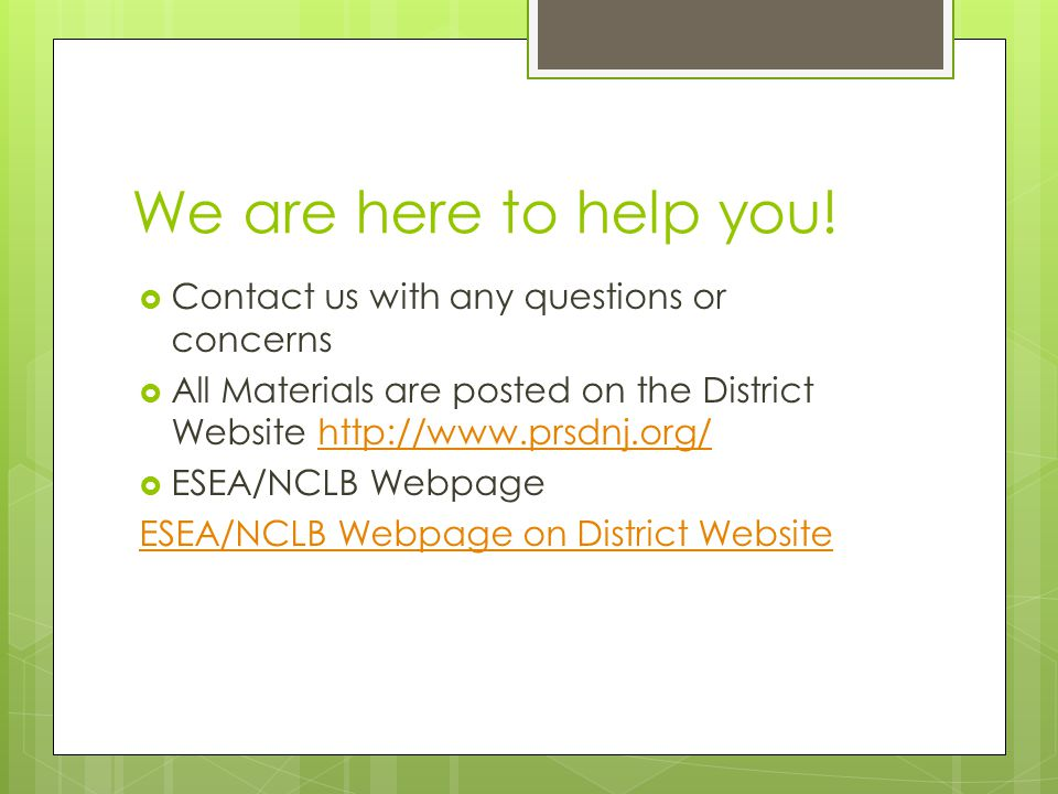 We are here to help you.