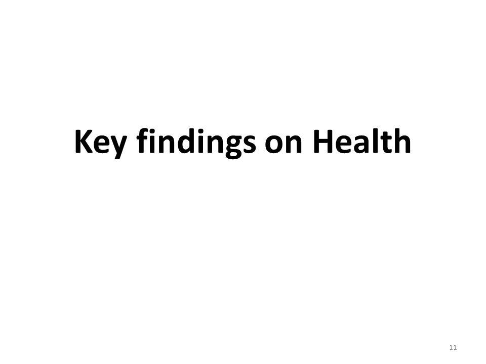 Key findings on Health 11