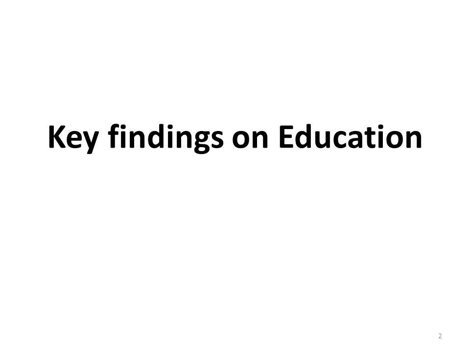 Key findings on Education 2