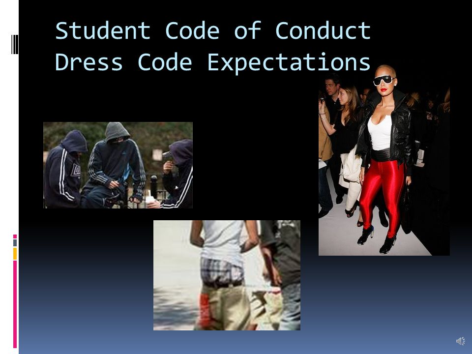 Student Code of Conduct Expectations  Model good citizenship