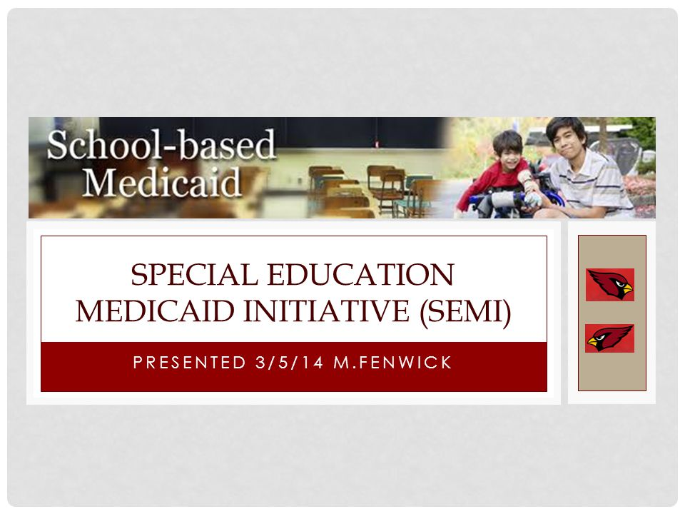 PRESENTED 3/5/14 M.FENWICK SPECIAL EDUCATION MEDICAID INITIATIVE (SEMI)
