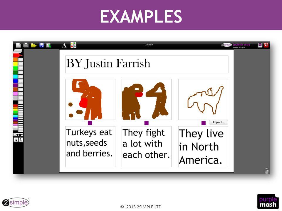 © 2013 2SIMPLE LTD EXAMPLES