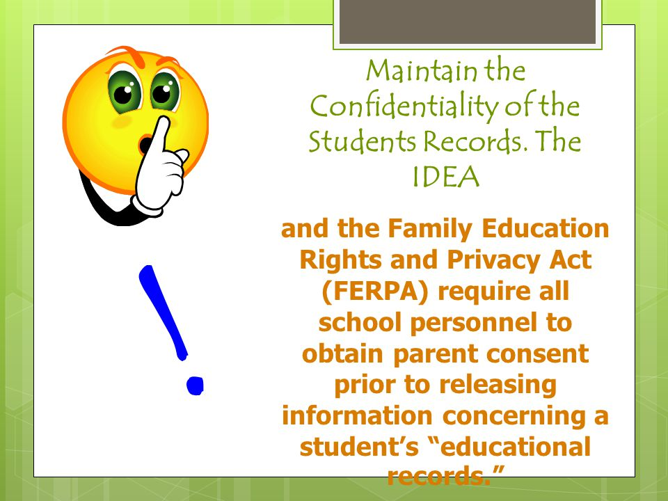  Never utter the word 'Fair' with regard to a special education student.